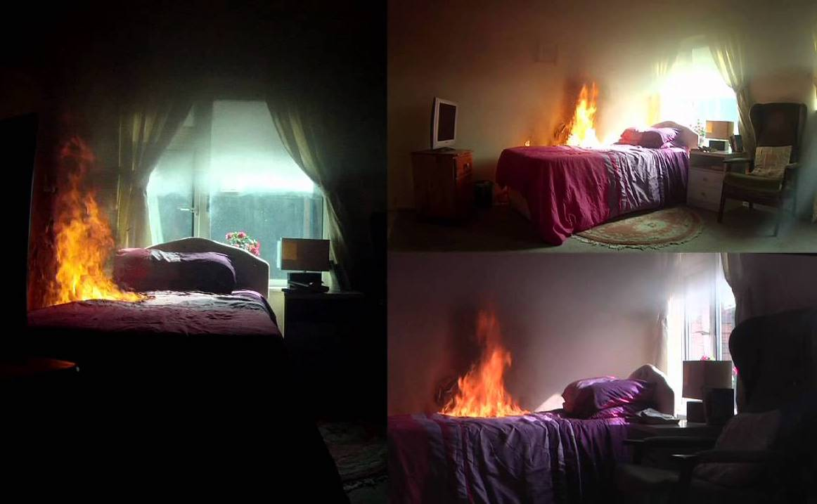 Home fires happen most often in the bedroom